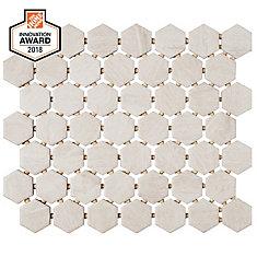 Fog Wood 10-inch x 12-inch x 6 mm Ceramic Hexagon Mosaic Tile (0.81 sq. ft. / piece)
