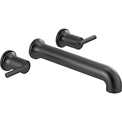 Trinsic Wall Mounted Tub Filler Trim, Matte Black