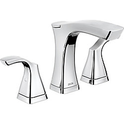 Tesla Two Handle Widespread Lavatory Faucet - Metal Pop-Up, Chrome