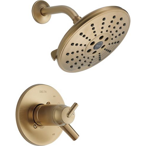 Delta Trinsic TempAssure 17T Series H2Okinetic Shower Trim, Champagne Bronze (Valve Sold Separately)