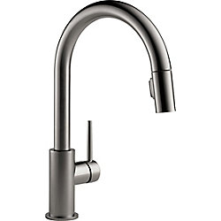 Trinsic Single Handle Pull-Down Kitchen Faucet in Black Stainless