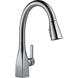 Mateo Single Handle Pull-Down Kitchen Faucet with ShieldSpray Technology in Arctic Stainless