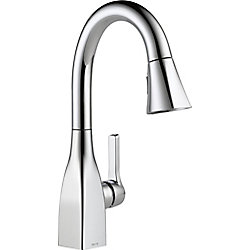 Mateo Single Handle Pull-Down Bar/Prep Faucet in Chrome