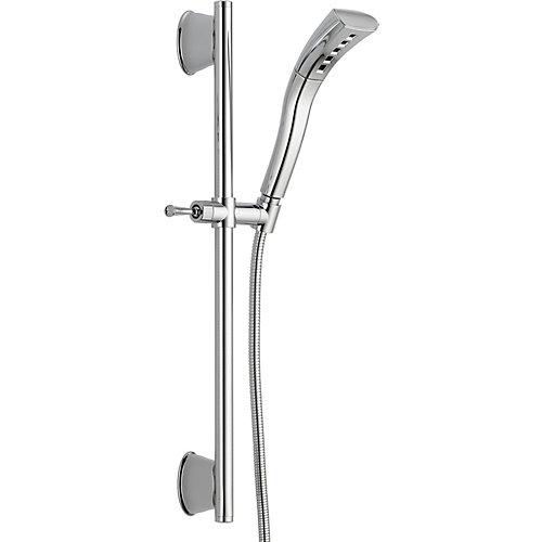 H2Okinetic Single-Setting Slide Bar Hand Shower, Chrome