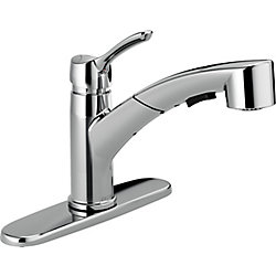 Collins Single Handle Pull-Out Kitchen Faucet, Chrome