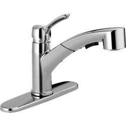 Delta Collins Single Handle Pull-Out Kitchen Faucet, Chrome