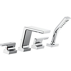Pivotal Roman Tub with Hand Shower Trim, Chrome