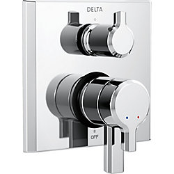Pivotal 17 Series Integrated Diverter Trim - 3 Function Diverter, Chrome