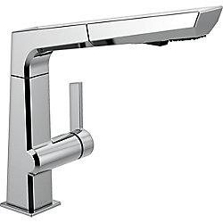 Pivotal Single Handle Pull-Out Kitchen Faucet, Chrome