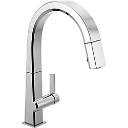 Pivotal Single-Handle Pull-Down Sprayer Kitchen Faucet with MagnaTite Docking in Chrome