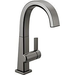 Pivotal Single Handle Bar/Prep Faucet in Black Stainless