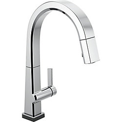 Pivotal Single Handle Pull Down Kitchen Faucet with Touch2O Technology, Chrome