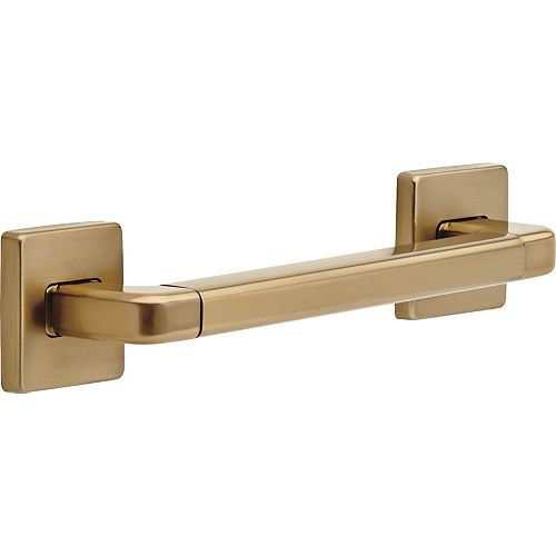 Delta Modern Angular Decorative ADA 12-inch x 1.25-inch Grab Bar in Champagne Bronze