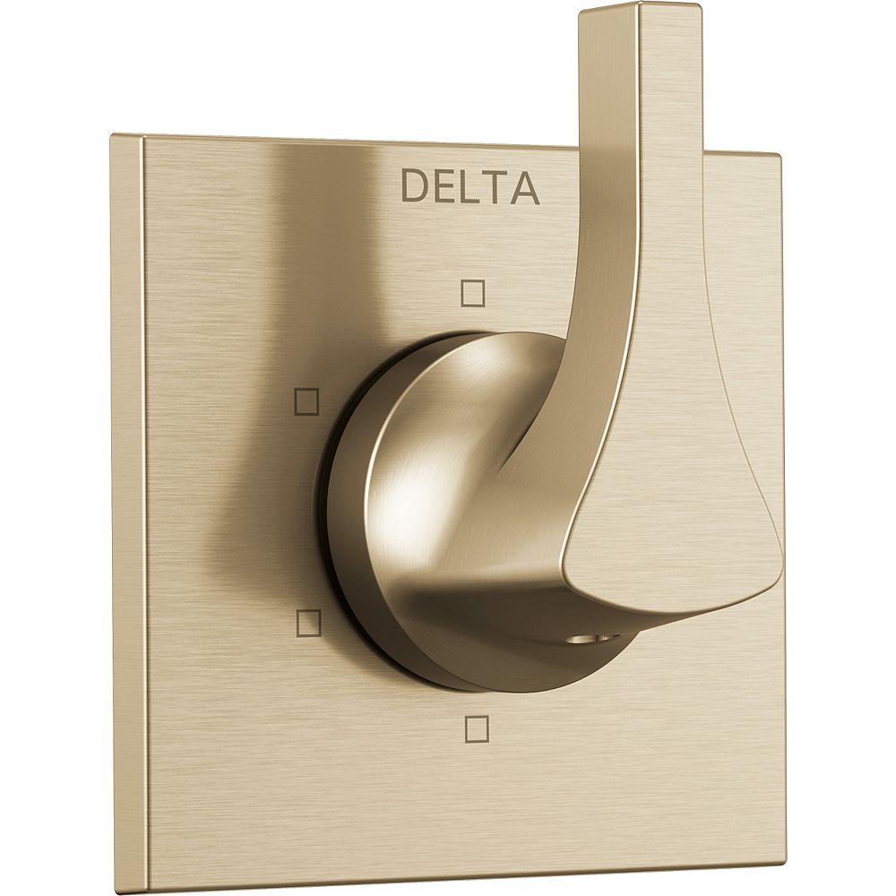 Delta Zura One-Handle 6-Setting Diverter Trim in Champagne Bronze (Valve Sold Separately)