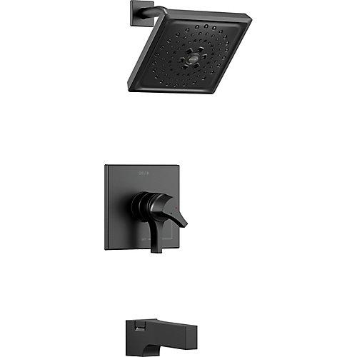 Zura Monitor 17 Series H2Okinetic Tub and Shower Trim, Matte Black