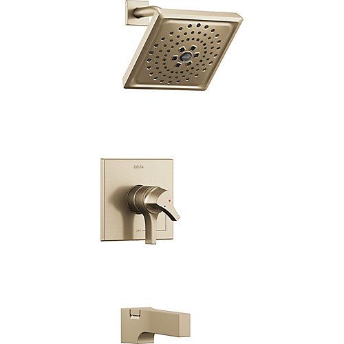 Zura Monitor 17 Series H2Okinetic Tub and Shower Trim, Champagne Bronze