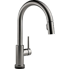 Trinsic Single Handle Pull-Down Kitchen Faucet with Touch, Black Stainless