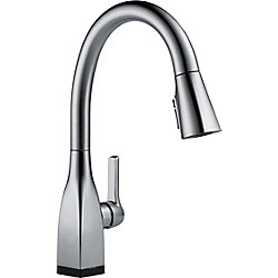 Mateo Single Handle Pull-Down Kitchen Faucet with Touch2O and ShieldSpray Technologies in Arctic Stainless