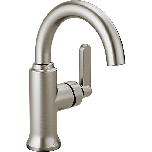 Alux Single Handle Centerset Lavatory Faucet, SpotShield Brushed Nickel