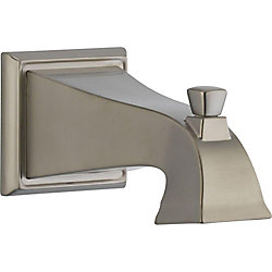 Dryden Tub Spout - Pull-Up Diverter, Stainless Steel