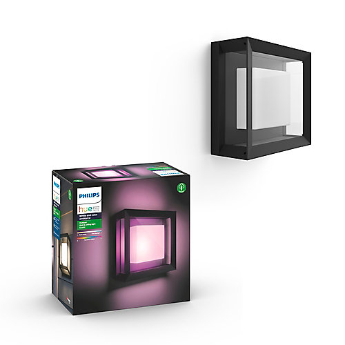 Hue Econic White and Colour Ambiance Square Outdoor Fixture