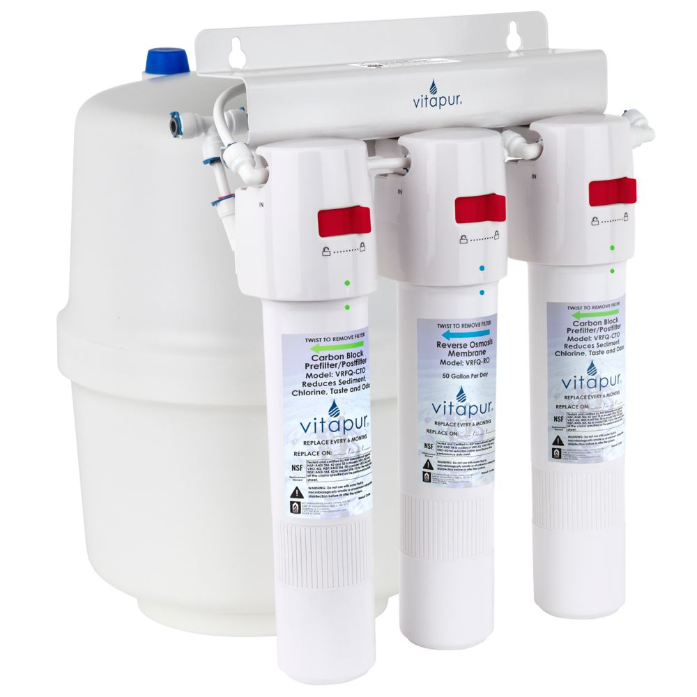 Vitapur Three stage quick connect reverse osmosis treatment system VRO-3Q