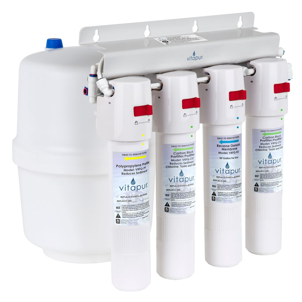 Vitapur Four stage quick connect reverse osmosis treatment system VRO-4Q|