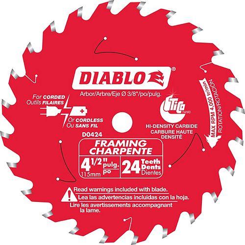 Diablo 4-1/2 Inch x 24 T Framing Blade