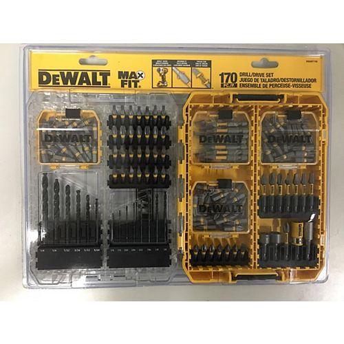 DEWALT MAXFIT 170 Jeu de forets/entraînements pour pièces de rechange