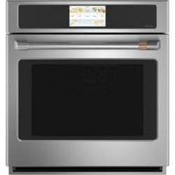 Café 27-inch Smart Single Electric Wall Oven with Convection Self-Cleaning in Stainless Steel