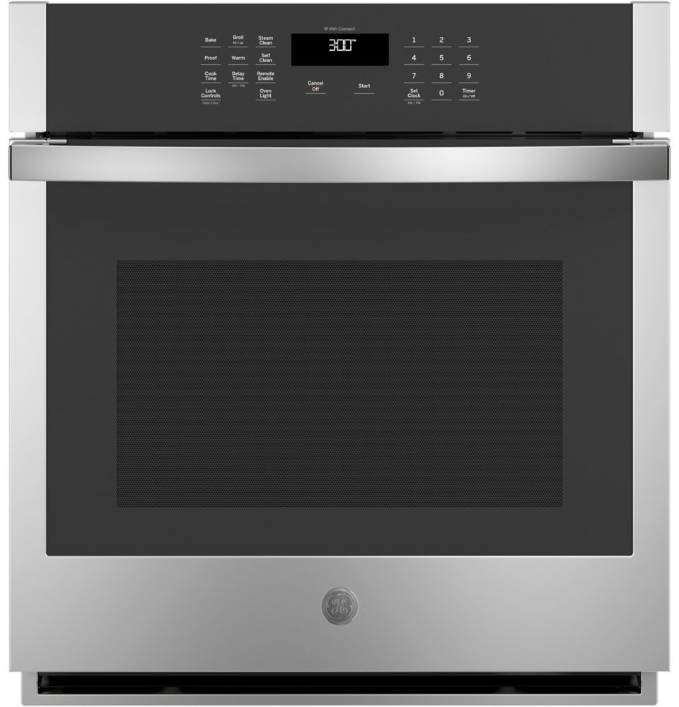27-inch Single Electric Wall Oven Self-Cleaning in Stainless Steel