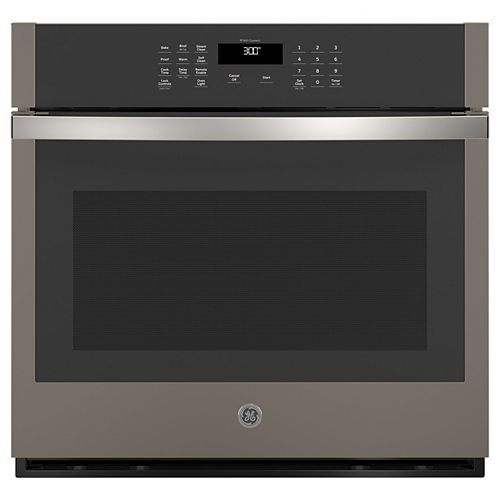 GE 30-inch Smart Single Electric Wall Oven Self-Cleaning in Slate