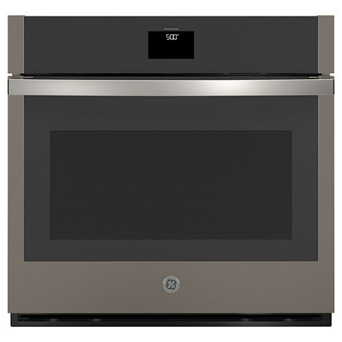 GE 30-inchSmart Single Electric Wall Oven with Self-Cleaning Convection in Slate