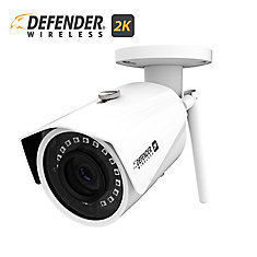 2K (4MP) Wireless Wide Angle Night Vision IP Security Camera in White with  Remote Mobile Viewing