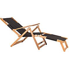 Chaise longue - noire