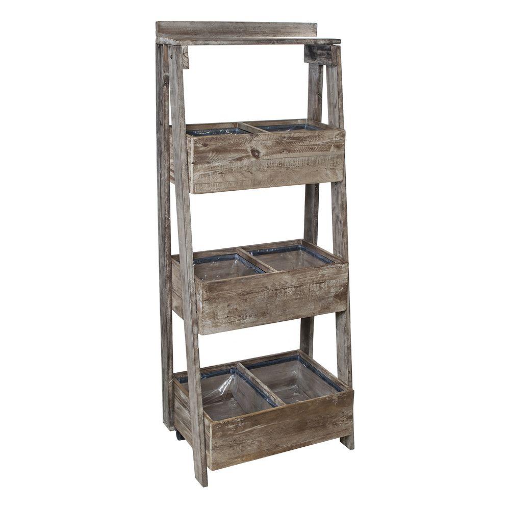 Grapevine Urban Garden 3 level Recycled Wood Ladder ...