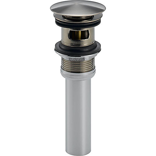 Push Pop-Up with Overflow, Stainless Steel