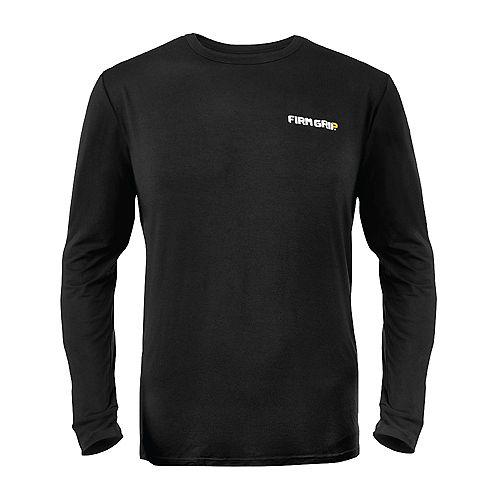 Firm Grip Black Long Sleeve Baselayer Shirt, XLarge