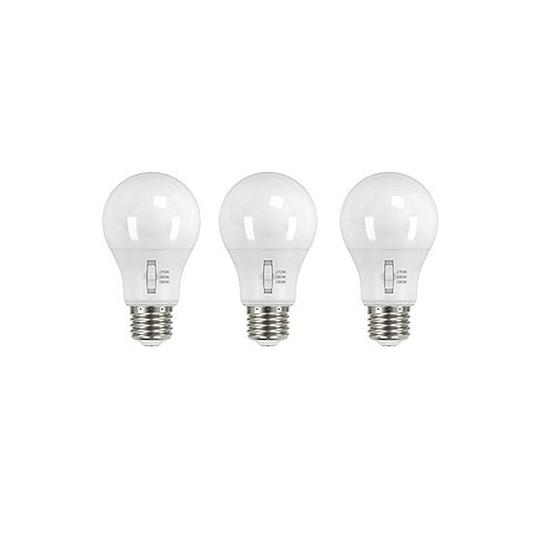 Ecosmart 60W Equivalent Tunable White A19 Dimmable LED Light Bulb (3-Pack)