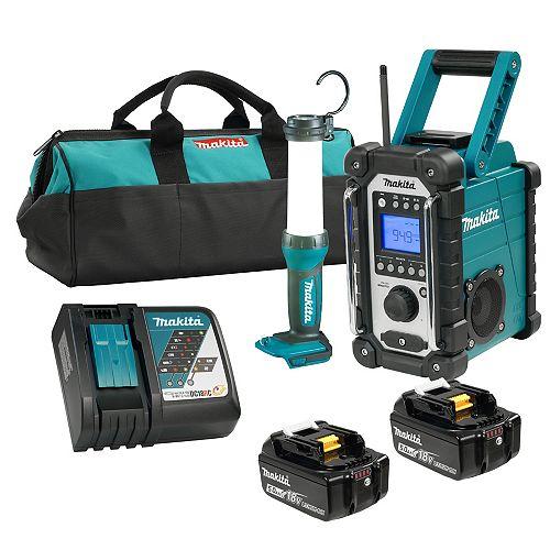 MAKITA 18V LXT 2PC Emergency 5.0Ah Kit (DMR107+DML807)