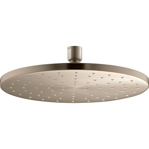 KOHLER 10 inch Contemporary Round 2.5 gpm rainhead with Katalyst(r) air-induction technology