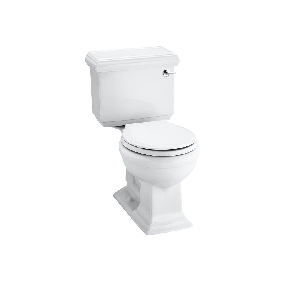 Kohler Comfort Height R Two Piece Round Front 1 28 Gpf Toilet The Home Depot Canada