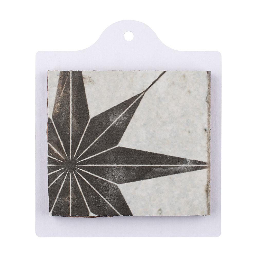 Échantillon - Carreau en céramique pour sol/mur Kings Star Nero 6 po x 6 po