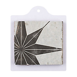 Sample - Kings Star Nero 6-inch x 6-inch Ceramic Floor and Wall Tile