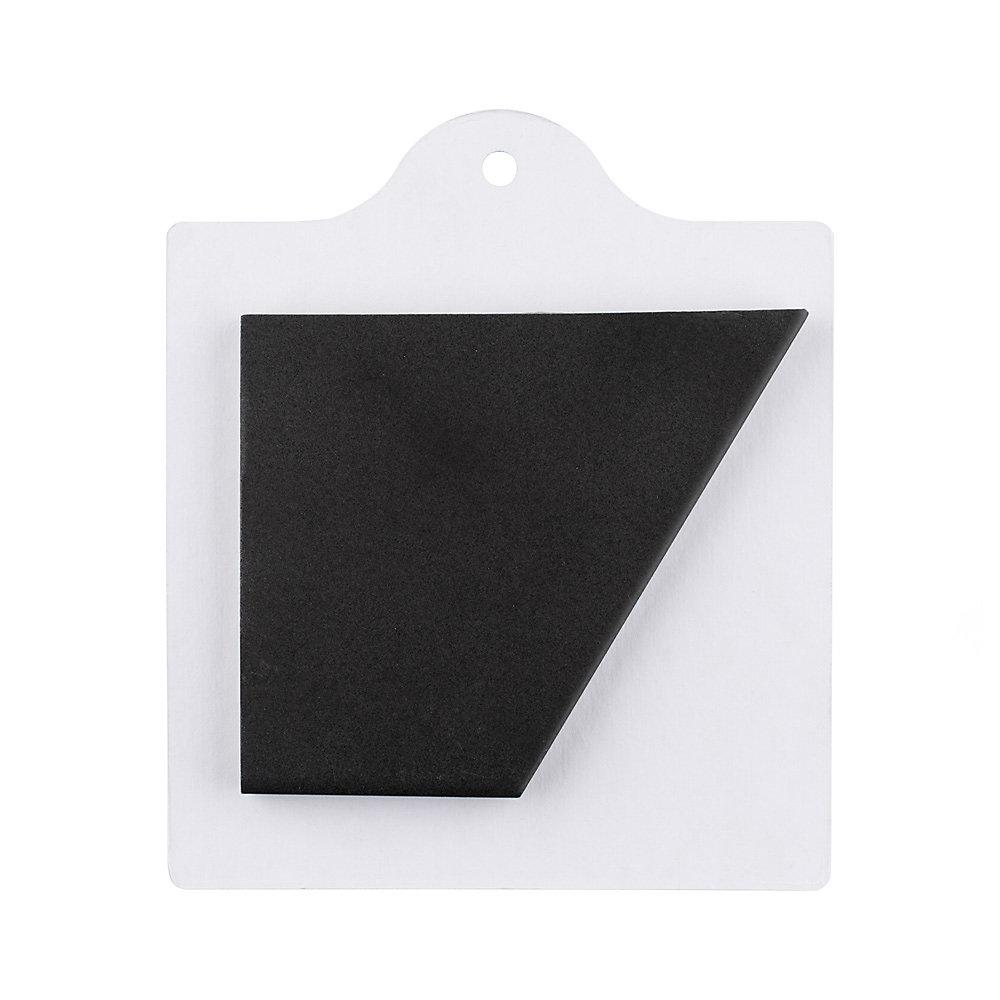 Échantillon - Carreau en porcelaine pour sol/mur Textile Hex noir 6 po x 6 po