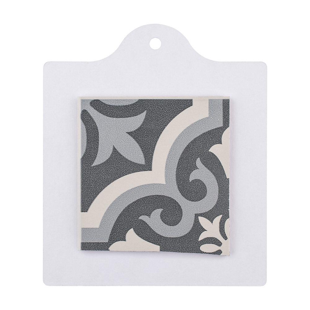 Échantillon - Carreau en céramique pour sol/mur Braga noir 6 po x 6 po