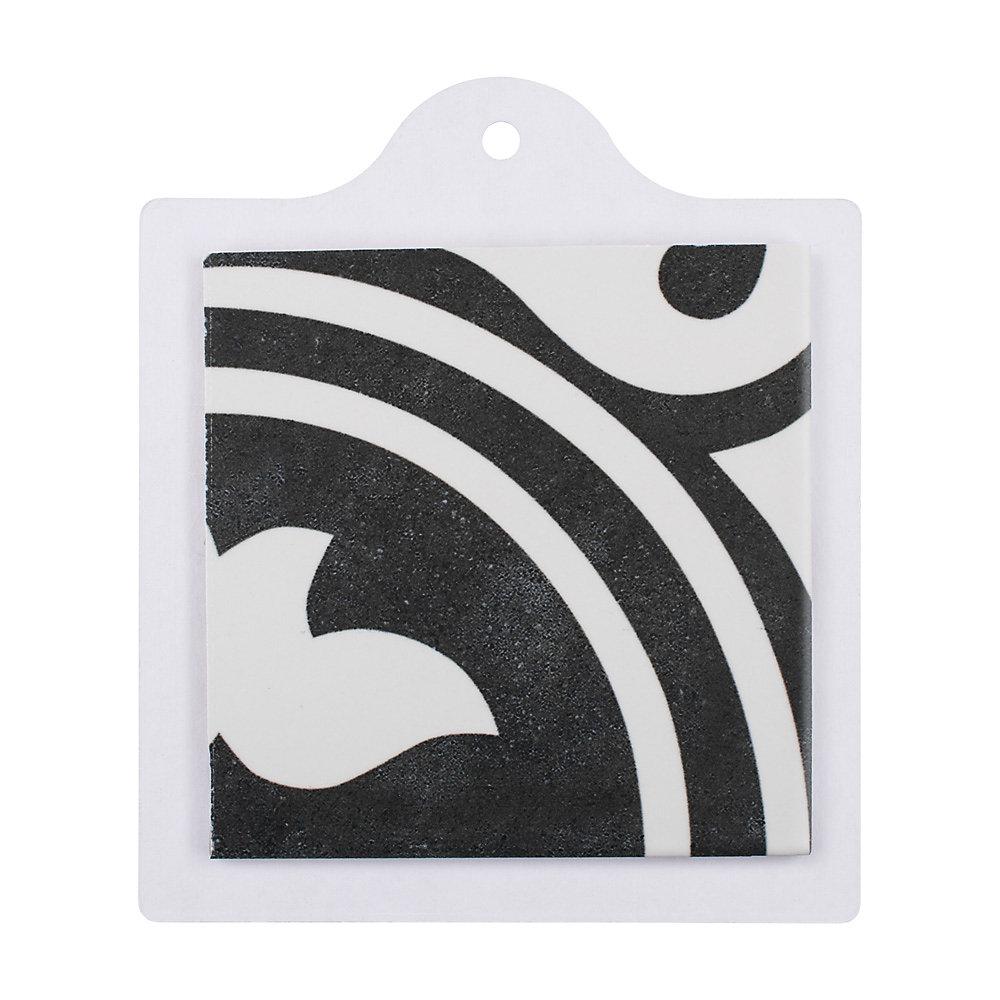 Échantillon - Carreau en porcelaine pour sol/mur Arte noir 6 po x 6 po