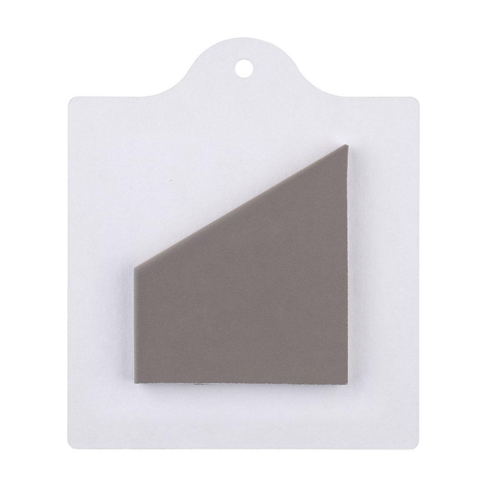 Échantillon - Carreau en porcelaine pour sol/mur Hexatile gris mat 6 po x 6 po