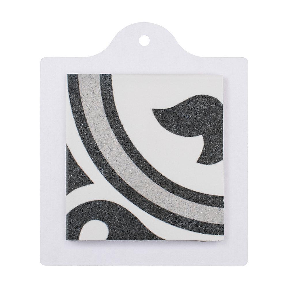 Échantillon - Carreau en porcelaine pour sol/mur Arte gris 6 po x 6 po