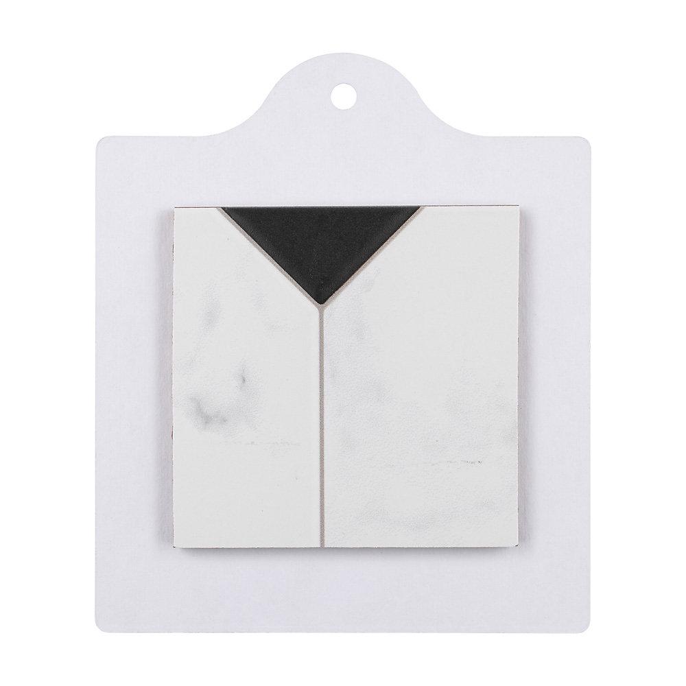 Échantillon - Carreau en céramique pour sol/mur Betera Jet Blanco 6 po x 6 po